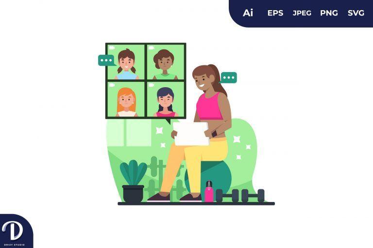 Yoga Class Online Meeting
