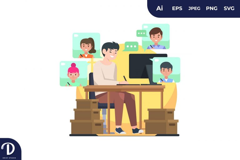 Designer Team Online Meeting