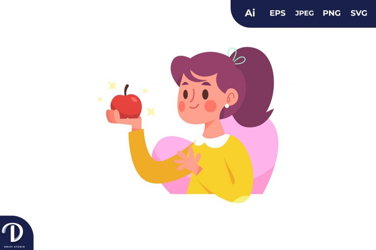 Apple People with Food Concept