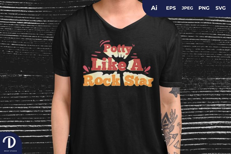 Potty Like A Rock Star for T-Shirt Design