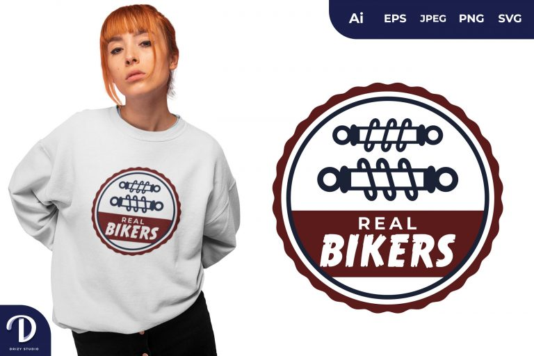 Preview image of Shock Absorber Real Bikers for T-Shirt Design