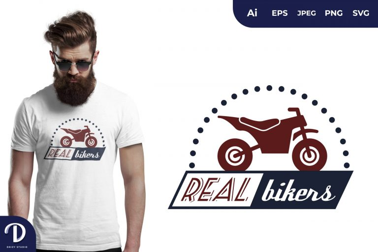 Trail Motorcycle Real Bikers for T-Shirt Design
