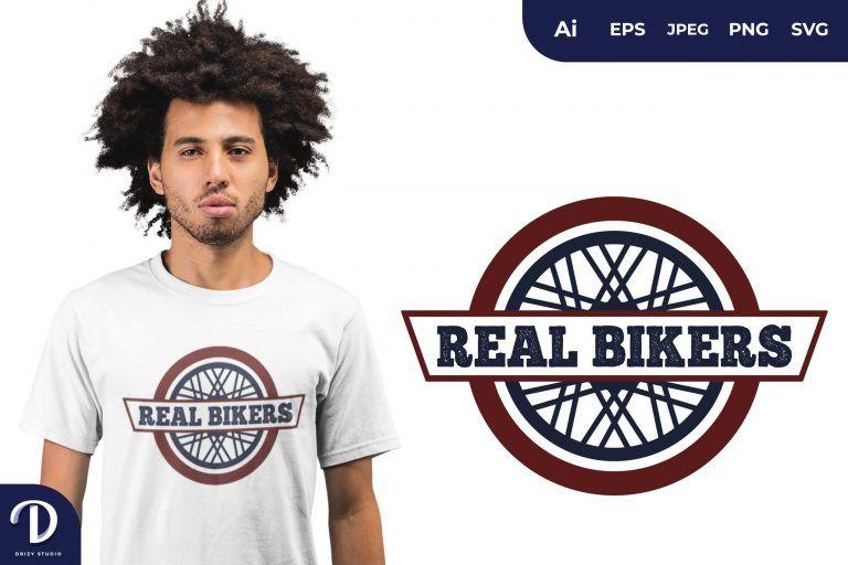 Wheel Real Bikers for T-Shirt Design