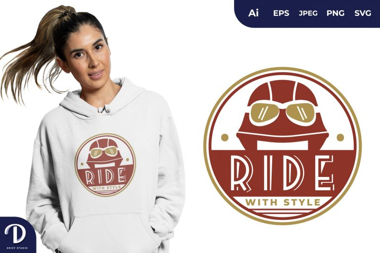 Helmet Ride With Style for T-Shirt Design