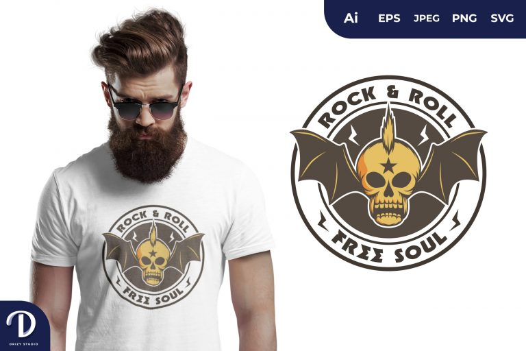 Punk Rock and Roll for T-Shirt Design