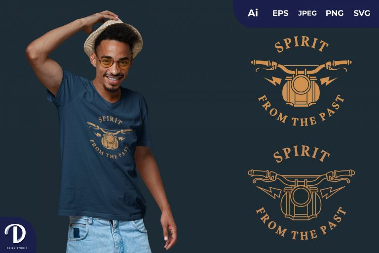 Vintage SPIRIT FROM THE PAST for T-Shirt Design