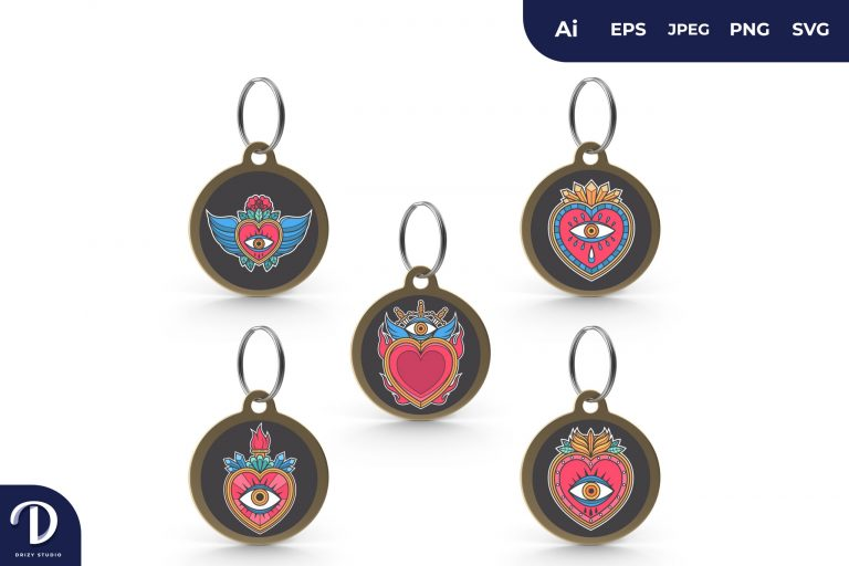 Sacred Heart for Keychain Set