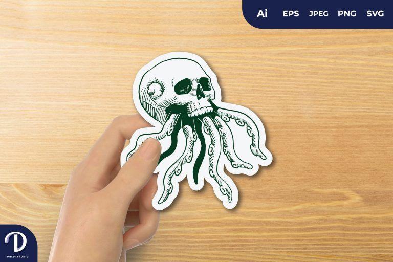Sea Skull Creature for Sticker