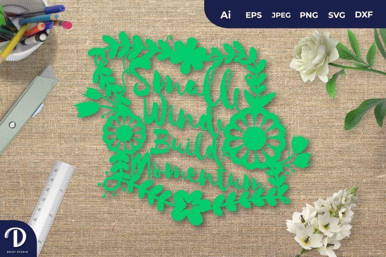 Green Small Wind Build Momentum Papercut