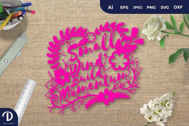 Pink Small Wind Build Momentum Papercut