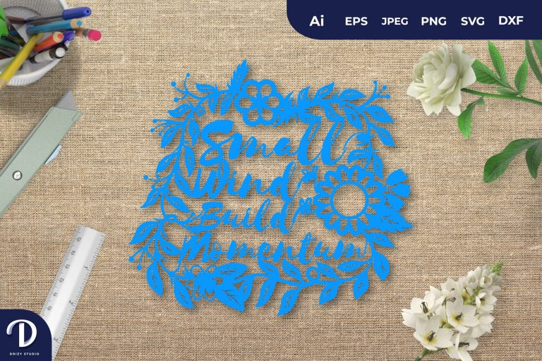 Blue Small Wind Build Momentum Papercut