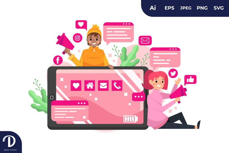 Pink Smartphone for Marketing Concept