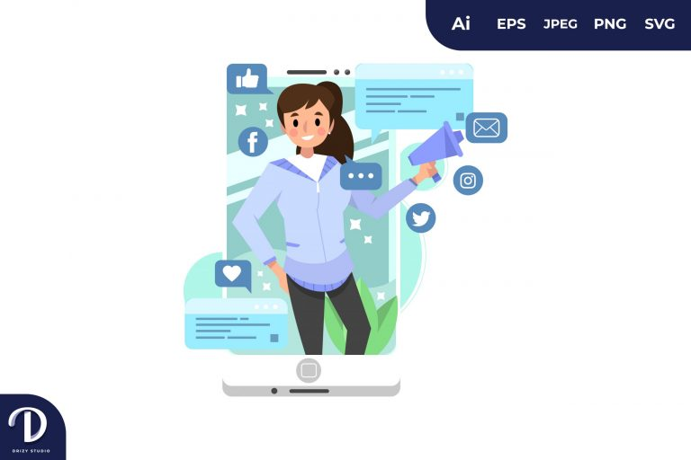 Blue Smartphone for Marketing Concept