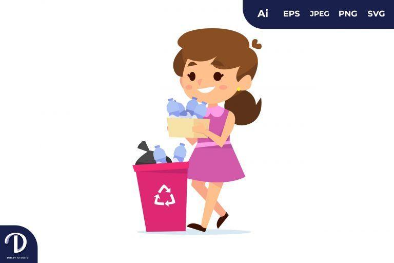 Sorting Plastic Bottles Trash