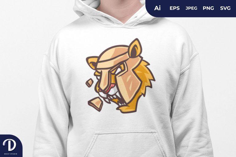 Spartan Tiger for T-Shirt Design