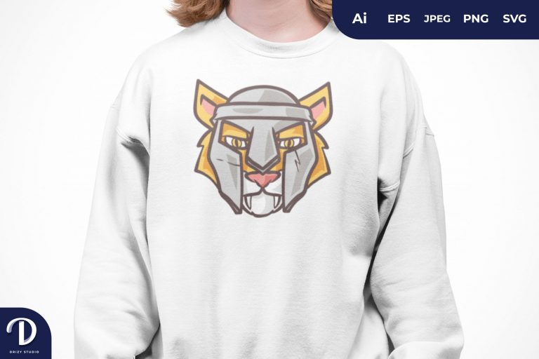 Preview image of Spartan Tiger for T-Shirt Design