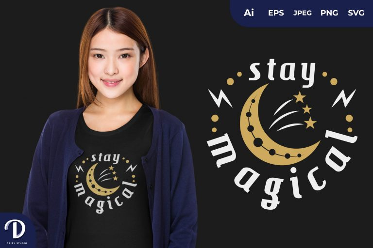 Moon Stay Magical for T-Shirt Design