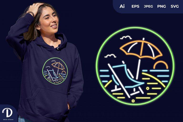 Summer Neon for T-Shirt Design