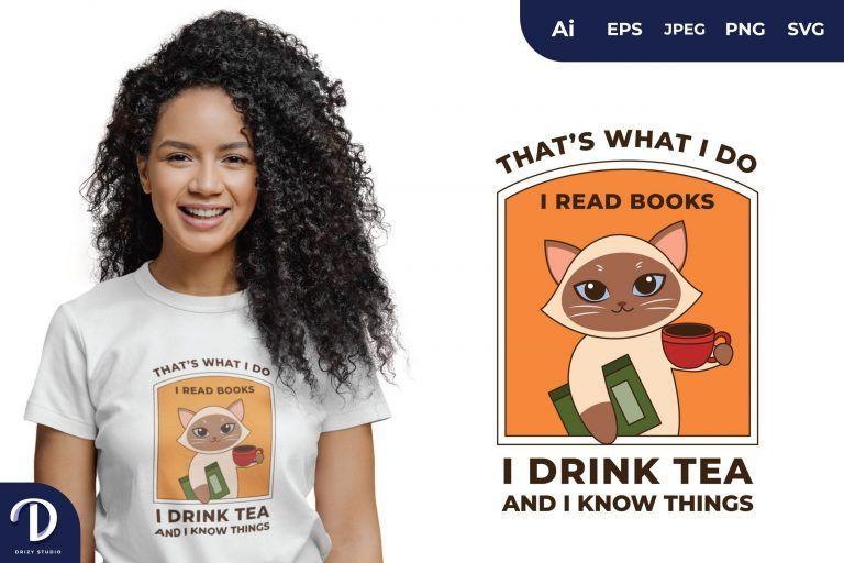 Cat Wisdom Quotes for T-Shirt Design