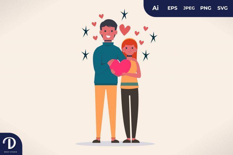 Love Valentines Day Couple