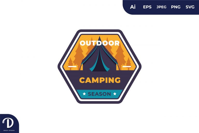 Preview image of Outdoor Camping Vintage Camping and Adventures for Sticker