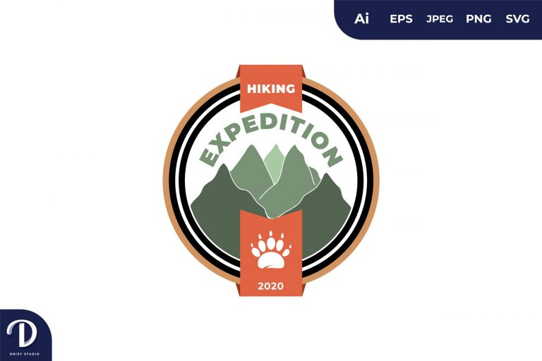 Preview image of Hiking Vintage Camping and Adventures for Sticker