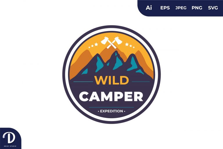 Preview image of Wild Camper Vintage Camping and Adventures for Sticker