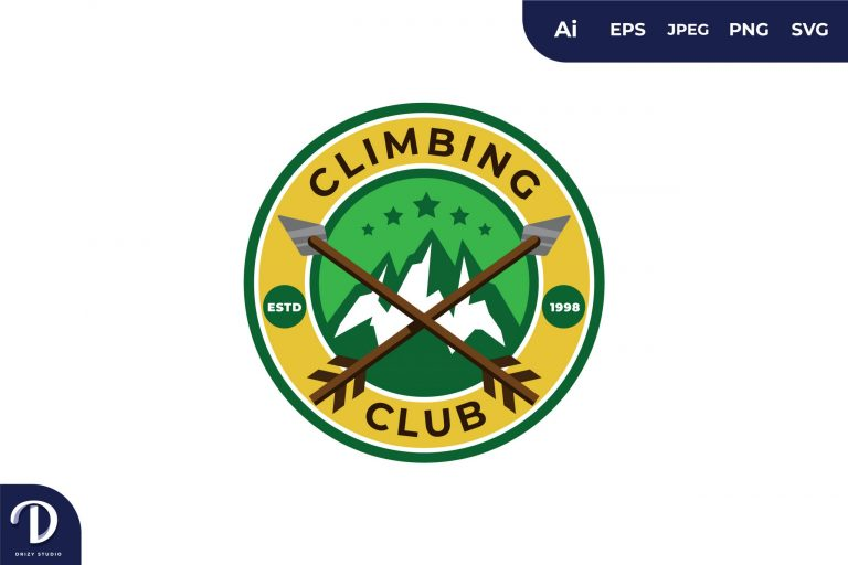 Preview image of Climbing Club Vintage Camping and Adventures for Sticker