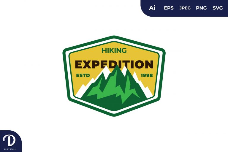 Hiking Vintage Camping and Adventures for Sticker