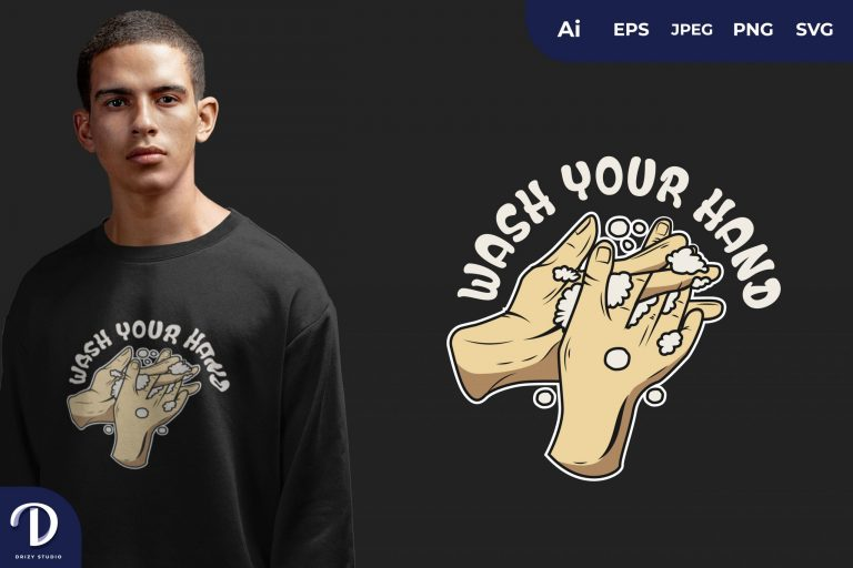 WASH YOUR HAND for T-Shirt Design