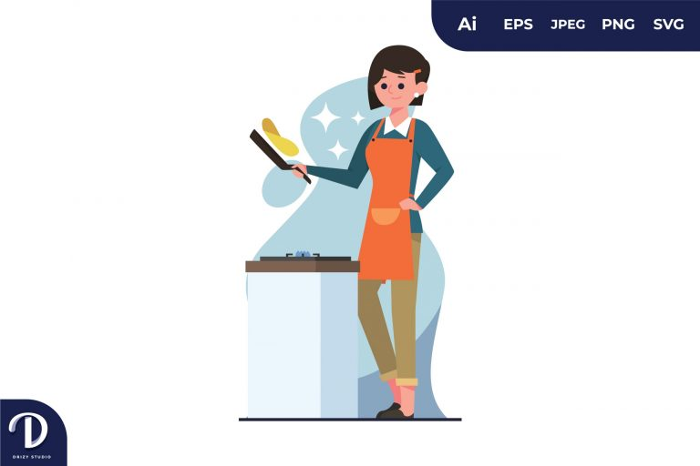 Preview image of Women Cooking Illustration