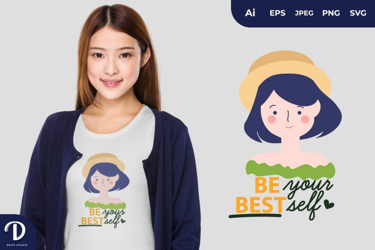 Vacation Women Be Your Best Self for T-Shirt Design