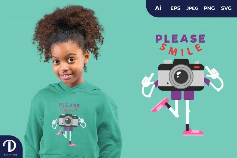 Please Smile for T-Shirt Design