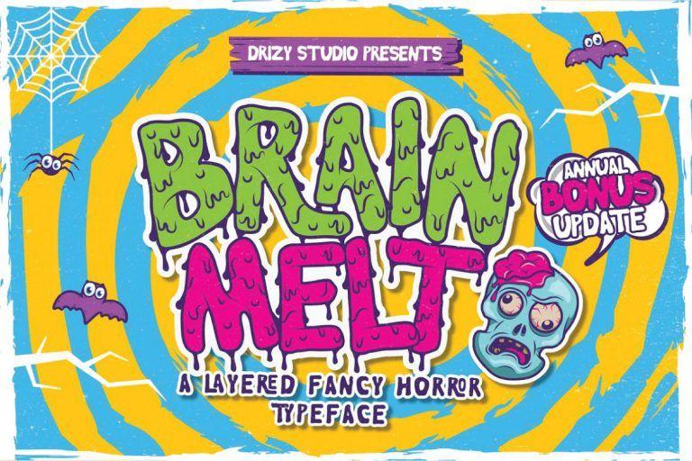 Brain Melt Layered Typeface
