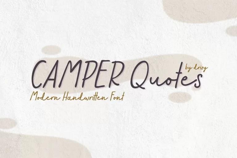 Camper Quotes