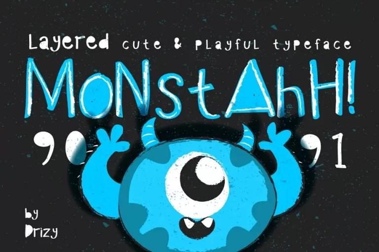 Monstahh Layered Typeface