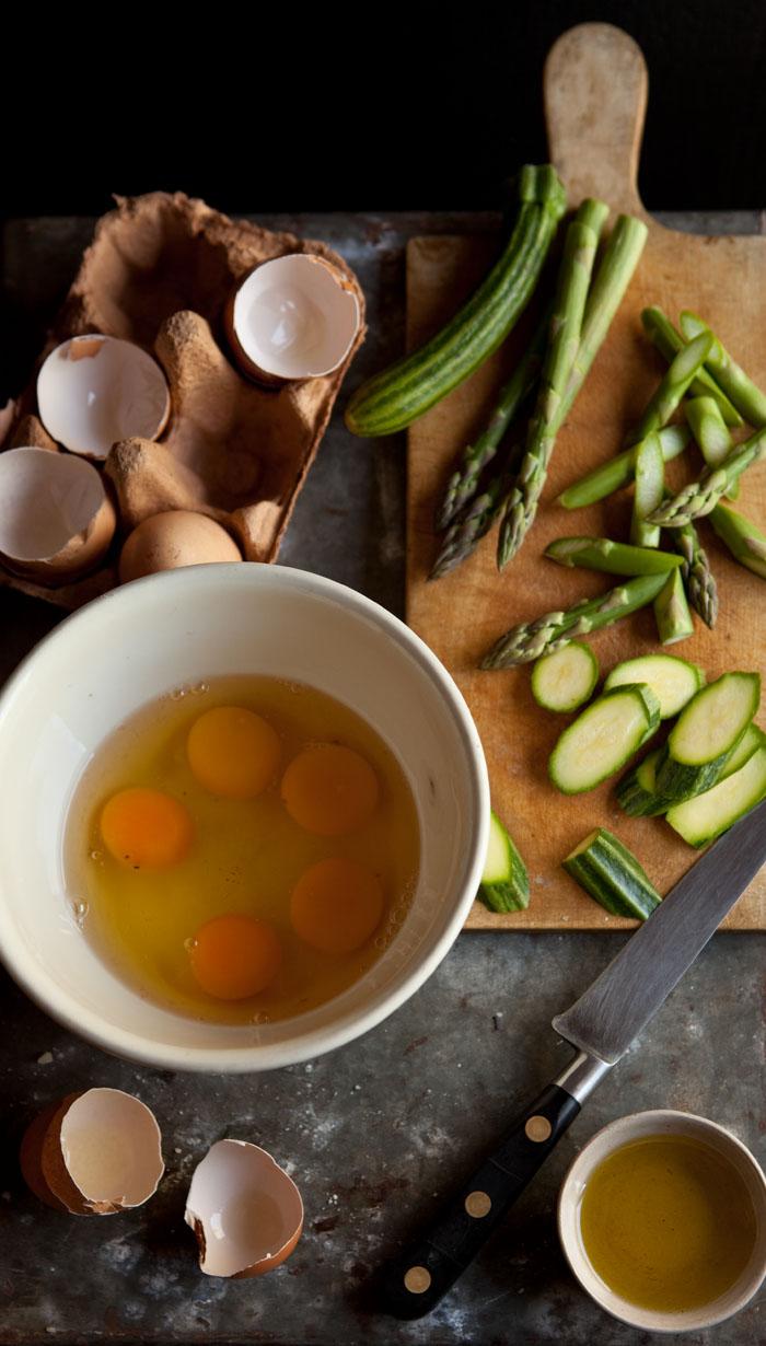asparagus, zucchini and mint frittata