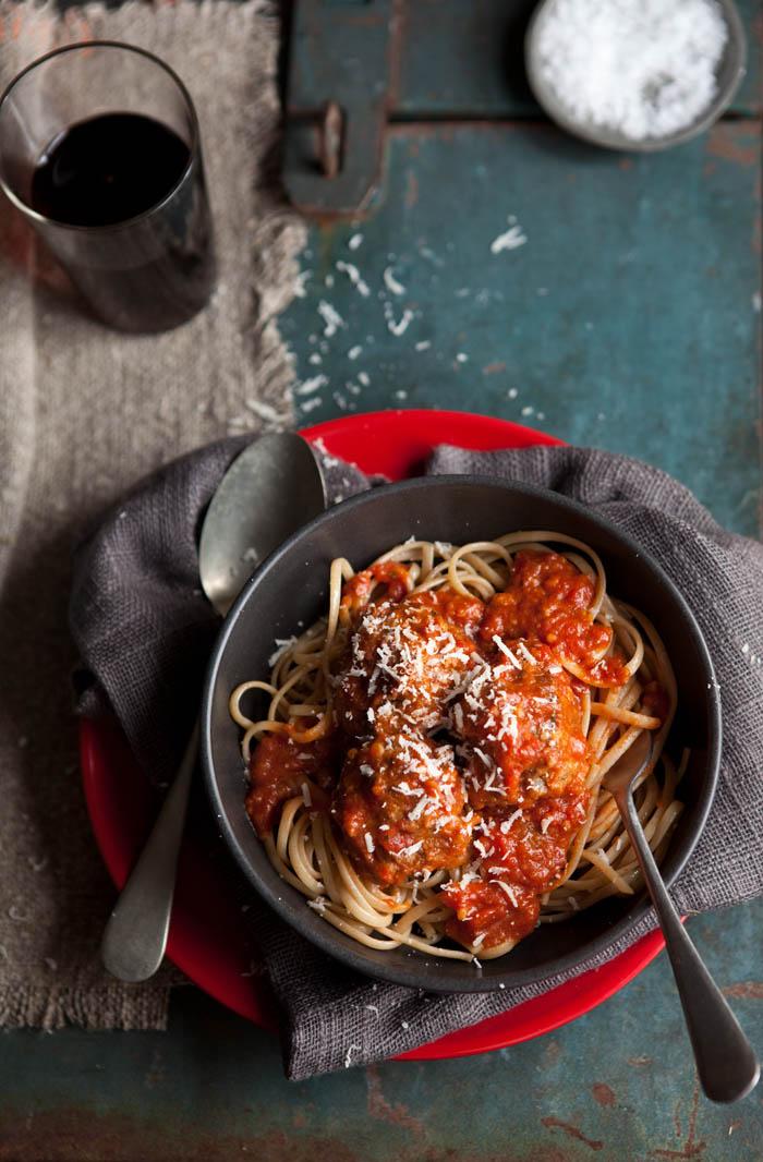 meatballs with Napolitana sauce