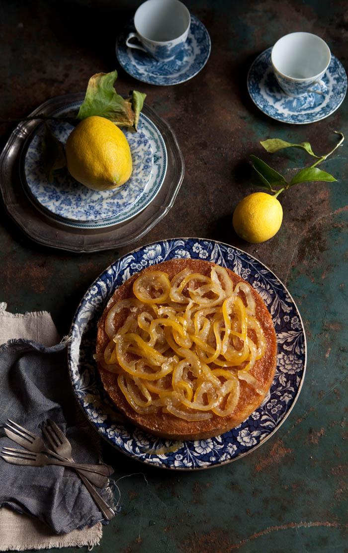 Lemon marmalade and polenta cake