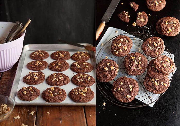 fudgy walnut brownie cookies