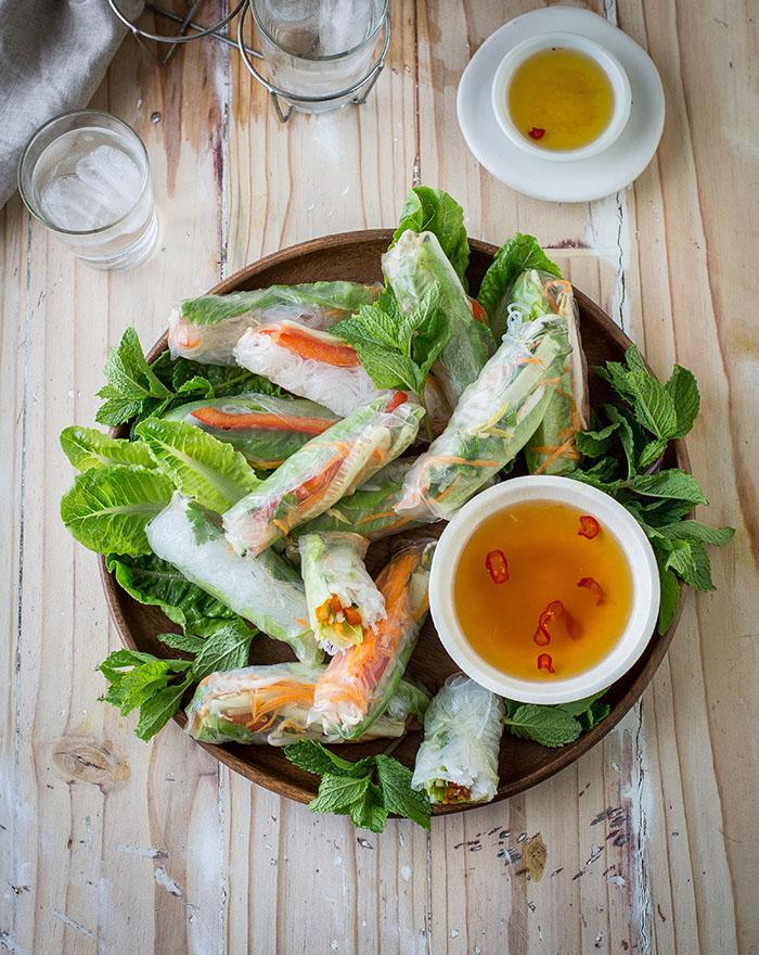 vietnamese summer vegetable rollls