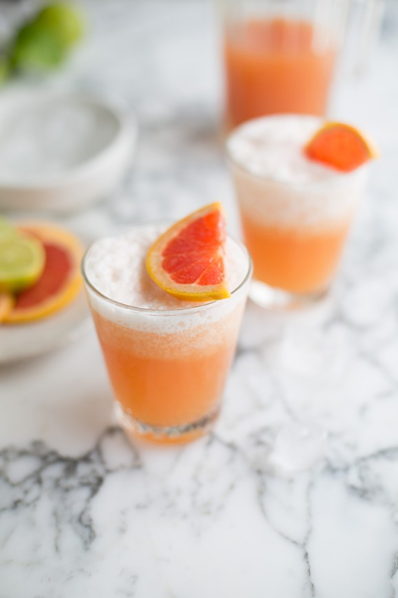 A frozen paloma cocktail