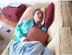 Dr Jenna asleep