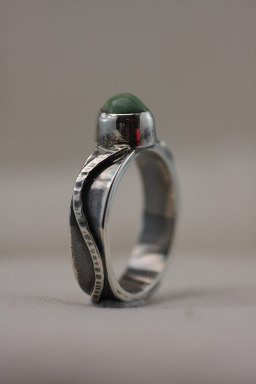River Ring – Eclectic Style (modern primitive) Hand Crafted Silver Ring