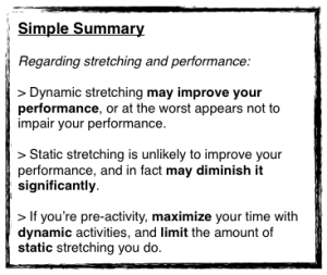 Static Stretch - Summary
