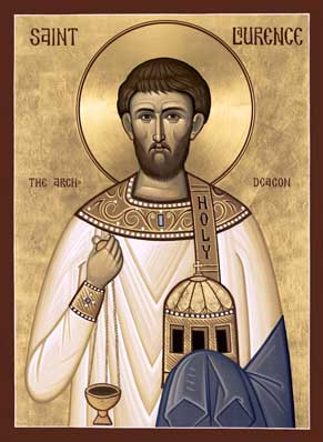 Icon of Archdeacon and Martyr St. Laurence of Rome