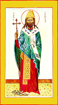 Orthodox Christian Icon of St. Samson of Dol