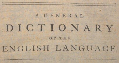 About This Copy Of The Dictionary Dr Johnson S Dictionary