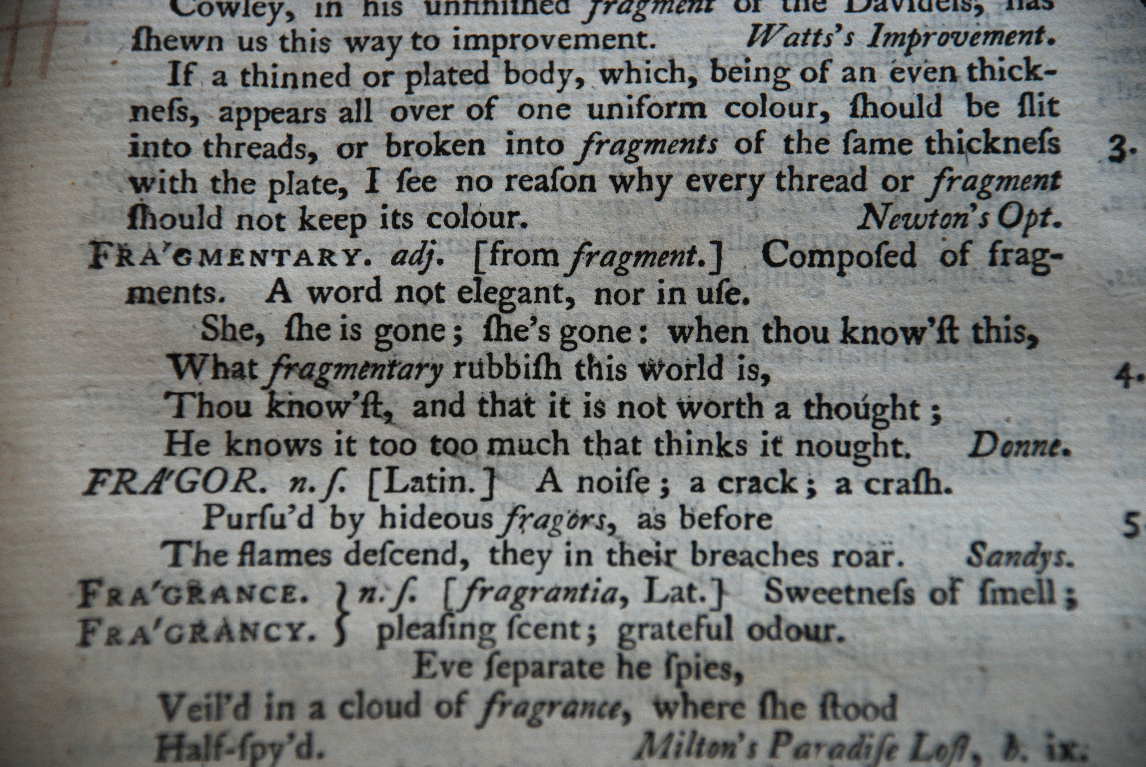 fragmentary-adj