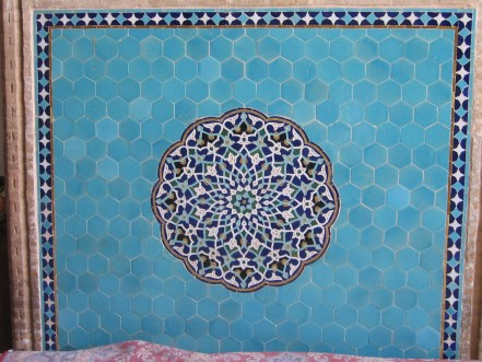 tile in jameh mosque of yazd